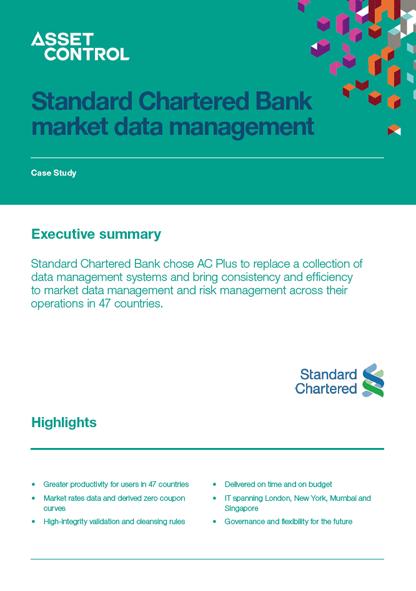 Standard chartered bank market data management
