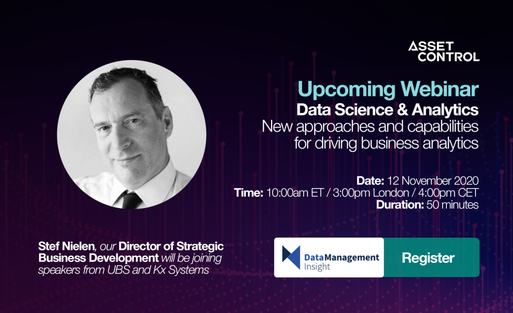 Webinar: Data Science & Analytics –<p>New approaches and capabilities for driving business analytics