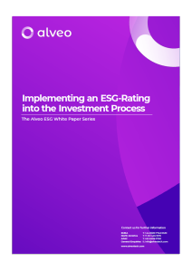 Implementing an ESG-Rating into the investment process