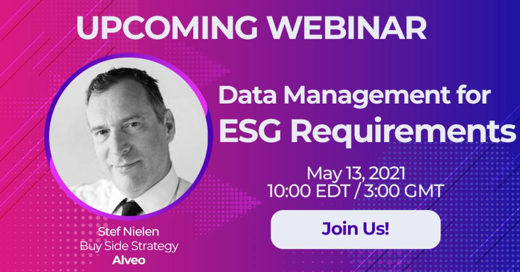 Live Webinar: Data Management for ESG Requirements