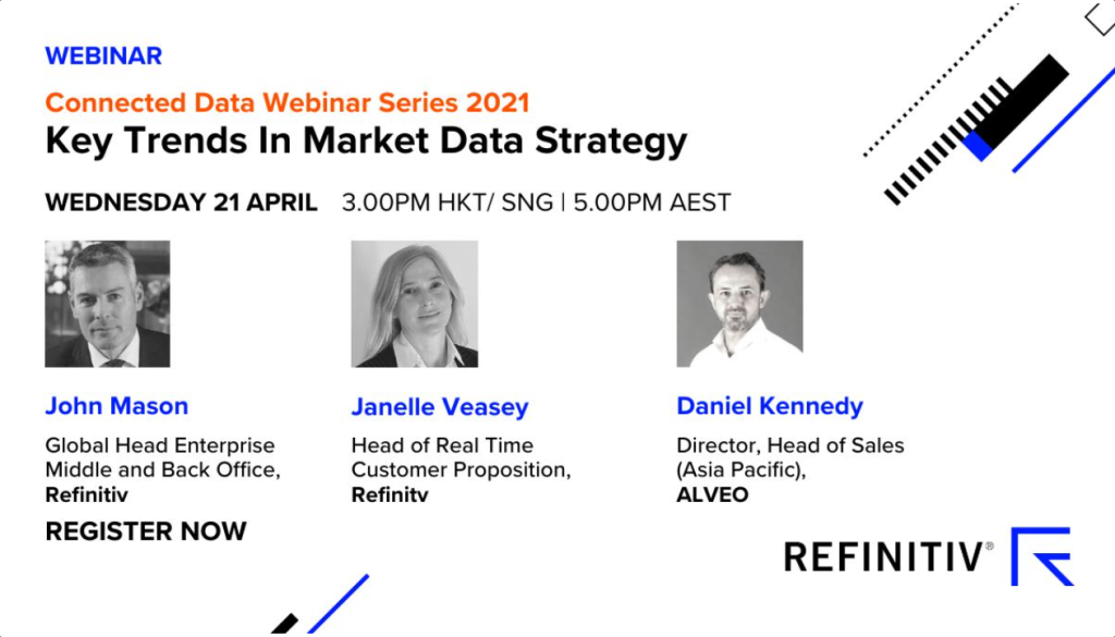 Speaking at Refinitiv Webinar: Key Trends In Market Data Strategy